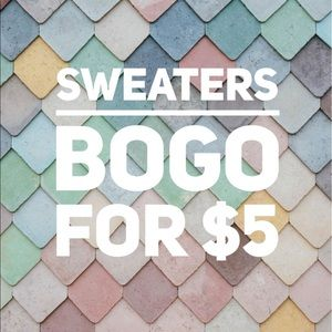 Sweaters BOGO for $5